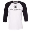 Body Evolution CrossFit - 100 - One Color - Bella + Canvas - Men's Three-Quarter Sleeve Baseball T-Shirt