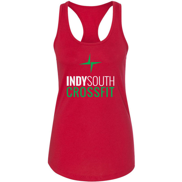 Indy South CrossFit - 100 - Stacked White - Next Level - Women's Ideal Racerback Tank