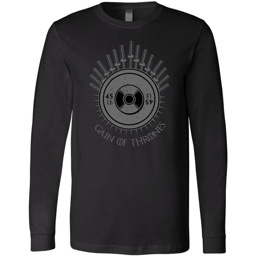 AMP Premium - 100 - Gain of Thrones - Bella + Canvas 3501 - Men's Long Sleeve Jersey Tee