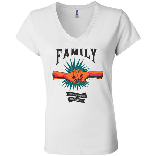 Big Shoulders CrossFit - 100 - Family - Bella + Canvas - Women's Short Sleeve Jersey V-Neck Tee