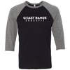 Coast Range CrossFit - 100 - Standard - Bella + Canvas - Men's Three-Quarter Sleeve Baseball T-Shirt