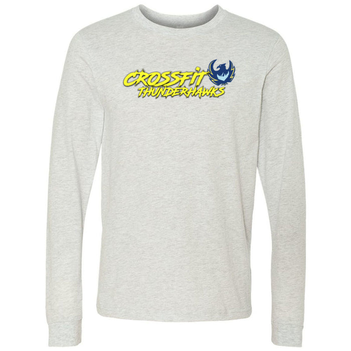 CrossFit ThunderHawk - 100 - Brush - Bella + Canvas 3501 - Men's Long Sleeve Jersey Tee
