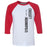 CrossFit Indianapolis - 100 - Vertical - Bella + Canvas - Men's Three-Quarter Sleeve Baseball T-Shirt