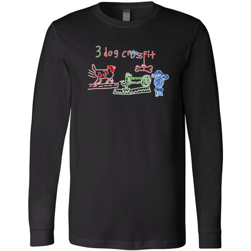 3 Dog CrossFit - 100 - Standard - Bella + Canvas 3501 - Men's Long Sleeve Jersey Tee
