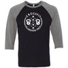 CrossFit Ellington Field - 100 - Standard - Bella + Canvas - Men's Three-Quarter Sleeve Baseball T-Shirt