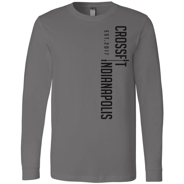 CrossFit Indianapolis - 100 - Vertical - Bella + Canvas 3501 - Men's Long Sleeve Jersey Tee