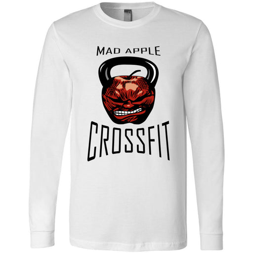 Mad Apple CrossFit - 100 - Standard - Bella + Canvas 3501 - Men's Long Sleeve Jersey Tee