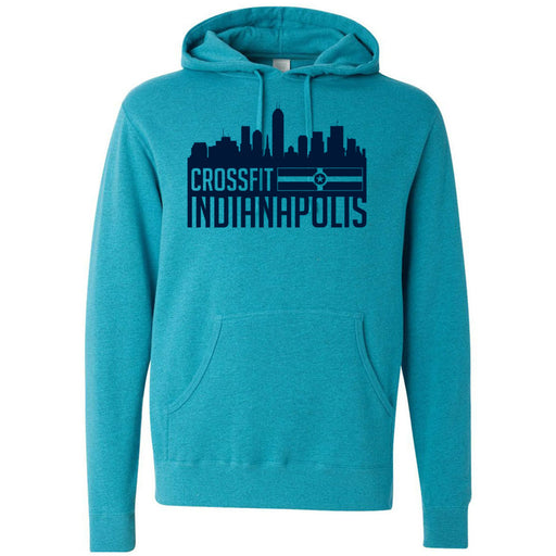 CrossFit Indianapolis - 100 - Skyline - Independent - Hooded Pullover Sweatshirt