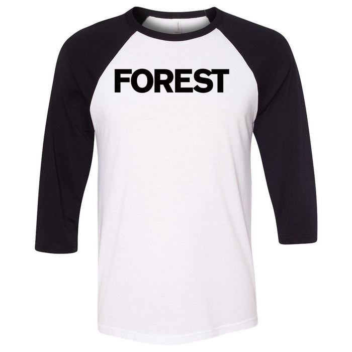 CrossFit Forest - 202 - Forest - Bella + Canvas - Men's Three-Quarter Sleeve Baseball T-Shirt