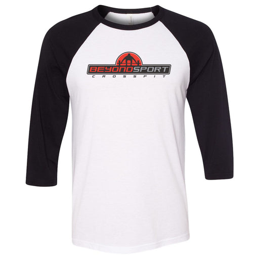 CrossFit Beyond Sport - 100 - Standard - Bella + Canvas - Men's Three-Quarter Sleeve Baseball T-Shirt