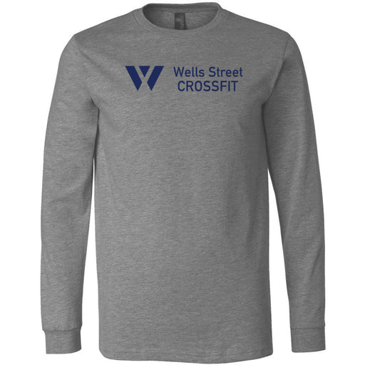 Wells Street CrossFit - 100 - Standard - Bella + Canvas 3501 - Men's Long Sleeve Jersey Tee