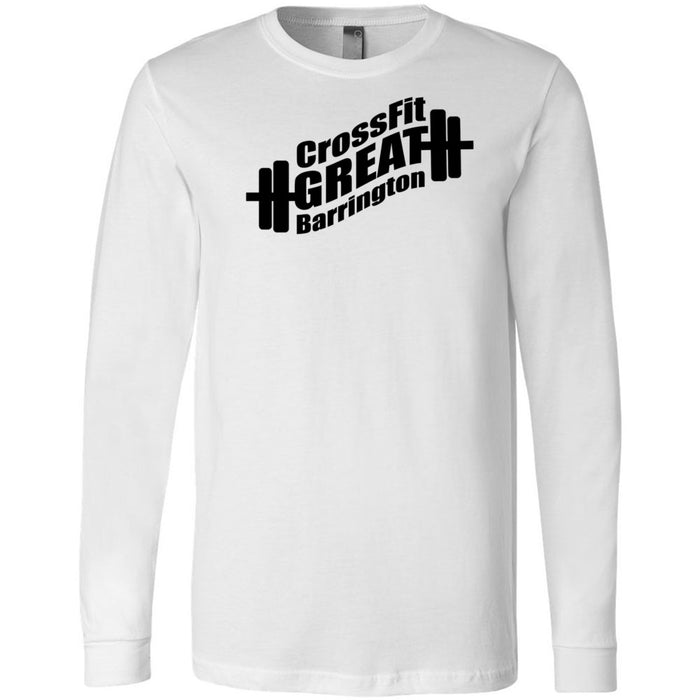 CrossFit Great Barrington - 202 - Stronger Than Yesterday - Bella + Canvas 3501 - Men's Long Sleeve Jersey Tee