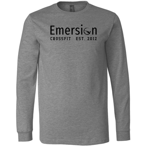 Emersion CrossFit - 100 - Black - Bella + Canvas 3501 - Men's Long Sleeve Jersey Tee