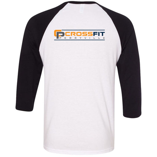 CrossFit Perryville - 202 - CP - Bella + Canvas - Men's Three-Quarter Sleeve Baseball T-Shirt