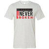 CrossFit Never Broken - 100 - Flag - Bella + Canvas - Men's Short Sleeve Jersey Tee