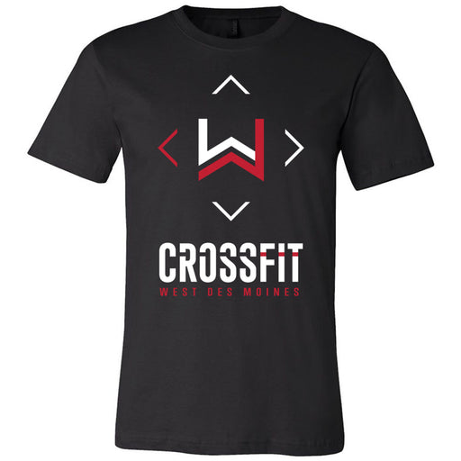 CrossFit West Des Moines - 100 - Stacked - Bella + Canvas - Men's Short Sleeve Jersey Tee