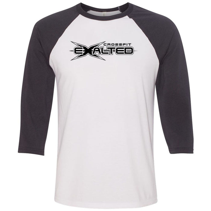CrossFit Exalted - 100 - One Color - Bella + Canvas - Men's Three-Quarter Sleeve Baseball T-Shirt