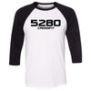 5280 CrossFit - 202 - 5280 - Bella + Canvas - Men's Three-Quarter Sleeve Baseball T-Shirt