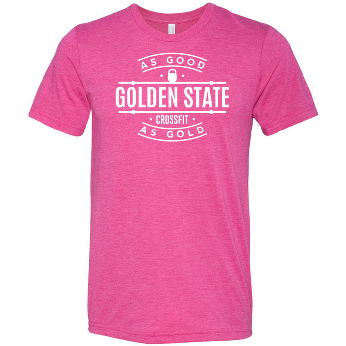 Golden State CrossFit - 100 - As Good As Gold - Bella + Canvas - Men's Triblend Short Sleeve Tee
