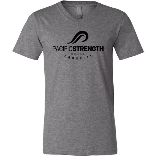 Pacific Strength CrossFit - 100 - Standard - Bella + Canvas - Men's Short Sleeve V-Neck Jersey Tee