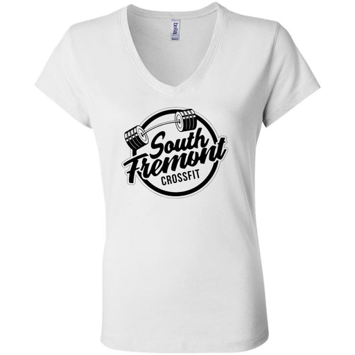 South Fremont CrossFit - 100 - Standard - Bella + Canvas - Women's Short Sleeve Jersey V-Neck Tee