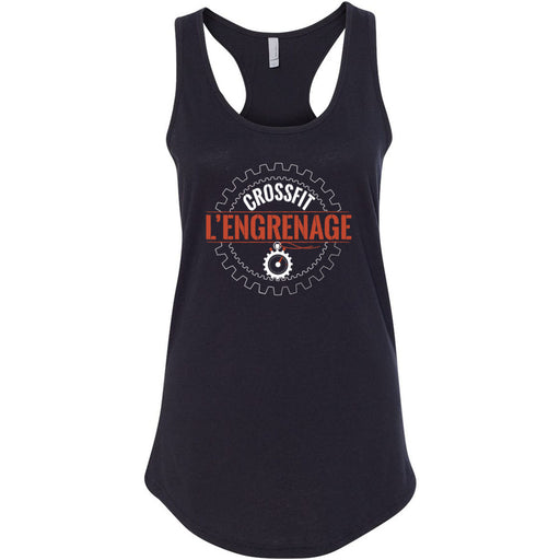 CrossFit L'Engrenage - 100 - Orange - Next Level - Women's Ideal Racerback Tank
