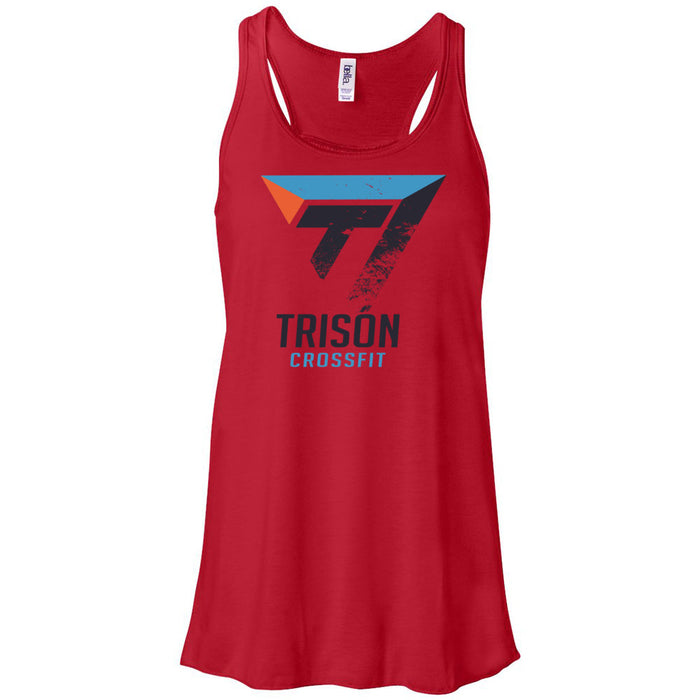 Trison CrossFit - 100 - Distressed - Bella + Canvas - Women's Flowy Racerback Tank