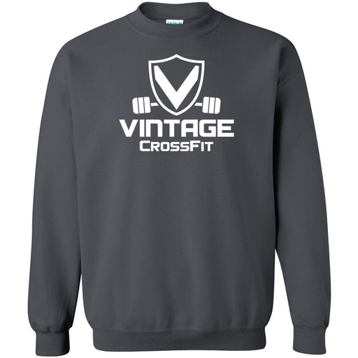 Vintage CrossFit - 100 - White - Gildan - Heavy Blend Crewneck Sweatshirt