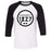 CrossFit 1827 - 100 - Standard - Bella + Canvas - Men's Three-Quarter Sleeve Baseball T-Shirt