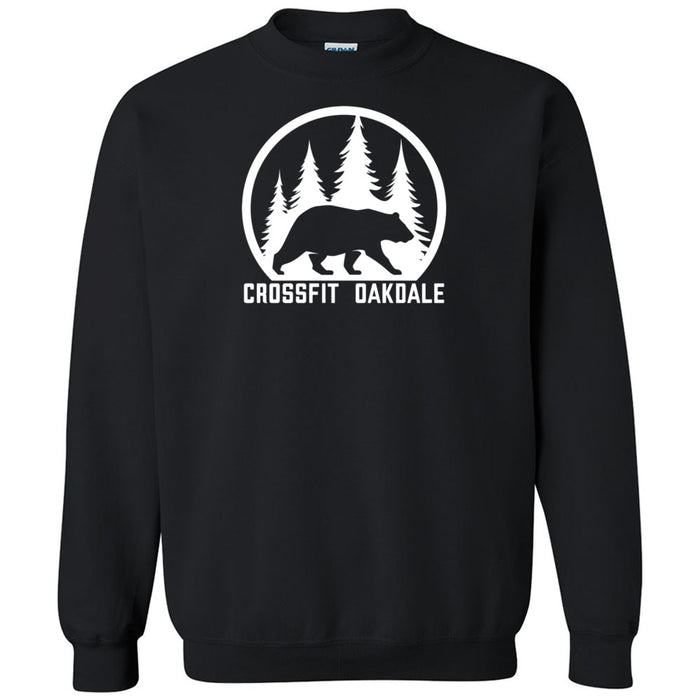 CrossFit Oakdale - 100 - Calibear White - Gildan - Heavy Blend Crewneck Sweatshirt