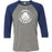 CrossFit New Hampshire - 202 - CFNH Oxygen - Bella + Canvas - Men's Three-Quarter Sleeve Baseball T-Shirt