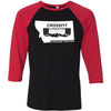 CrossFit Livingston - 100 - One Color - Bella + Canvas - Men's Three-Quarter Sleeve Baseball T-Shirt