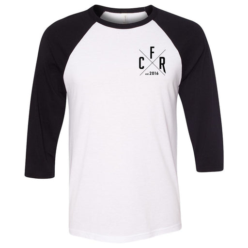CrossFit Rolesville - 202 - CFR - Bella + Canvas - Men's Three-Quarter Sleeve Baseball T-Shirt
