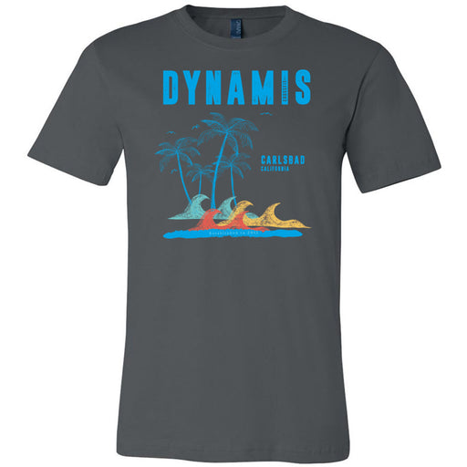 Dynamis CrossFit - 100 - Palm Tree Blue - Bella + Canvas - Men's Short Sleeve Jersey Tee