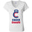 Caged CrossFit - 100 - Standard - Bella + Canvas - Women's Short Sleeve Jersey V-Neck Tee