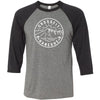 CrossFit Kaneohe - 100 - Standard - Bella + Canvas - Men's Three-Quarter Sleeve Baseball T-Shirt