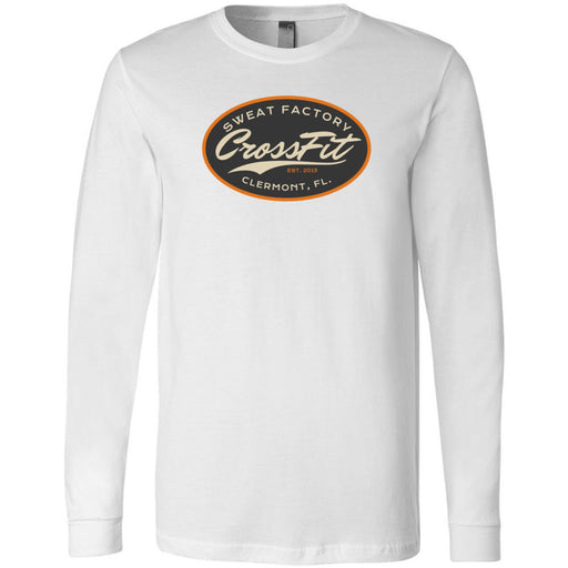 Sweat Factory CrossFit - 100 - DD3 - Bella + Canvas 3501 - Men's Long Sleeve Jersey Tee