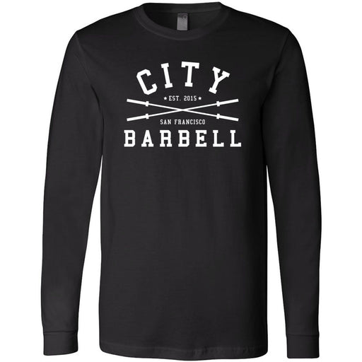 The City CrossFit - 202 - Barbell - Bella + Canvas 3501 - Men's Long Sleeve Jersey Tee