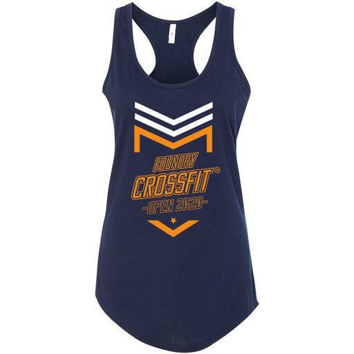 Foundry CrossFit - 100 - 2020 Open Orange - Next Level - Women's Ideal Racerback Tank