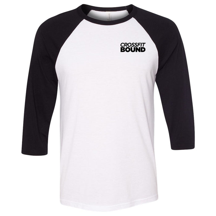 CrossFit Bound - 202 - Hero - Bella + Canvas - Men's Three-Quarter Sleeve Baseball T-Shirt