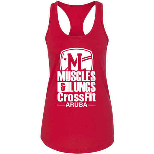Muscles & Lungs CrossFit - 100 - Standard - Next Level - Women's Ideal Racerback Tank