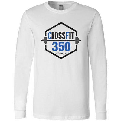 CrossFit 350 - 100 - Standard - Bella + Canvas 3501 - Men's Long Sleeve Jersey Tee
