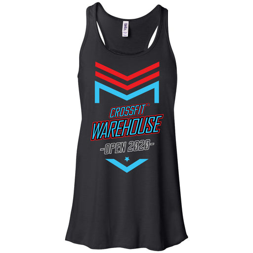 CrossFit Warehouse - 100 - 2020 Open - Bella + Canvas - Women's Flowy Racerback Tank