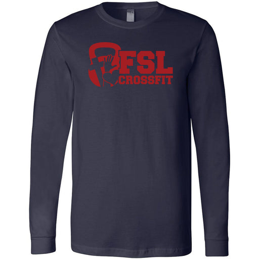 FSL CrossFit - 100 - Red - Bella + Canvas 3501 - Men's Long Sleeve Jersey Tee