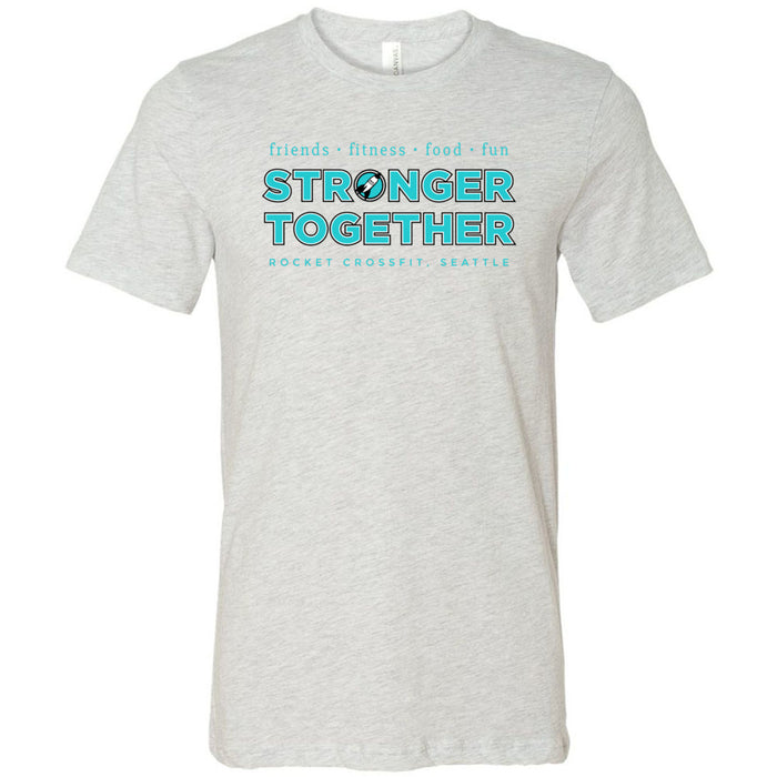 Rocket CrossFit - Stronger Together - Bella + Canvas - Men's Short Sleeve Jersey Tee