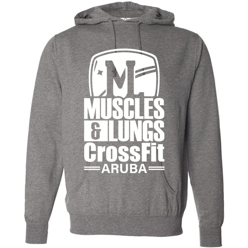 Muscles & Lungs CrossFit - 100 - Standard - Independent - Hooded Pullover Sweatshirt