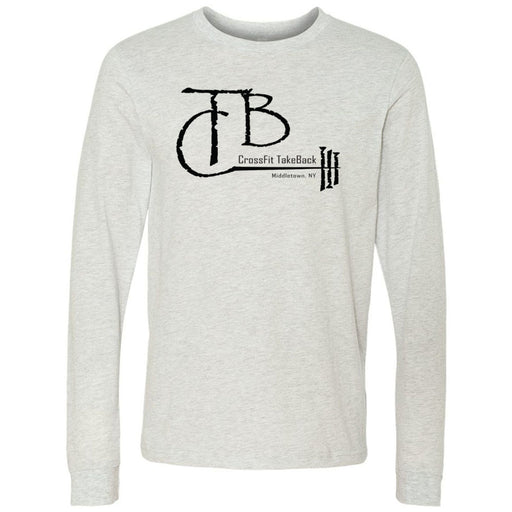 CrossFit TakeBack - 100 - Barbell - Bella + Canvas 3501 - Men's Long Sleeve Jersey Tee