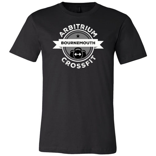 Arbitrium CrossFit - 100 - Black and White - Bella + Canvas - Men's Short Sleeve Jersey Tee