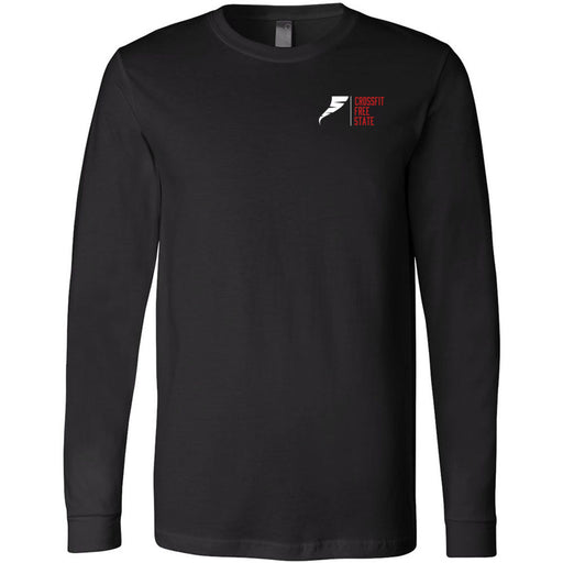 CrossFit Free State - 100 - Pocket - Bella + Canvas 3501 - Men's Long Sleeve Jersey Tee