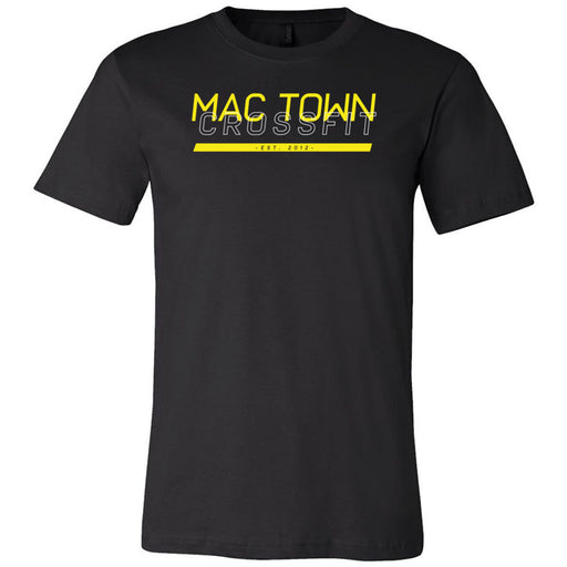 Mac Town CrossFit - 100 - Black and Yellow - Bella + Canvas - Men's Short Sleeve Jersey Tee